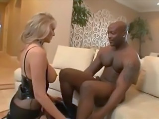 Big Tits Blonde Interracial Lingerie MILF