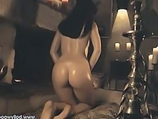 Ass Babe Dancing Indian Oiled
