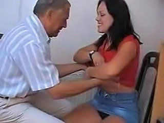 Amateur Brunette Cute Daddy Daughter French Old and Young Young