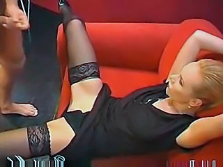 Blonde German MILF Pornstar Stockings