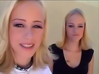 Blonde Cute Lesbian Strapon Twins