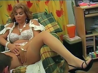 Big Tits Blonde French Lingerie Licking Mature