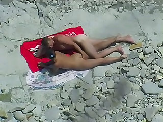 Beach Kissing Nudist Outdoor Voyeur