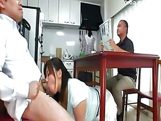 Blowjob Japanese Kitchen Mature Threesome