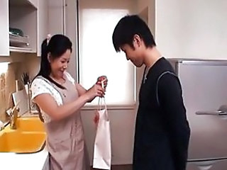 Japanese Kitchen Mature Mom