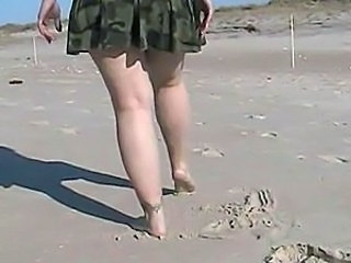 Army Beach Legs MILF Outdoor