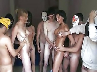 Amateur European Gangbang Orgy Party Spanish
