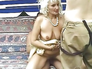 Blonde Hardcore Mature Riding SaggyTits Threesome