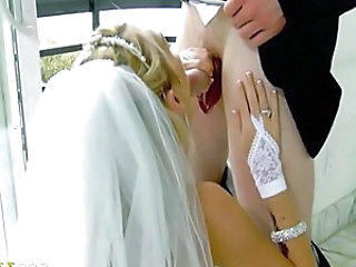 Blonde Blowjob Bride Handjob