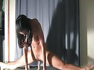Amateur Brunette Dildo Flexible Masturbating Small Tits Young