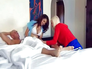 Big Tits Cheerleader Handjob MILF Pornstar Threesome