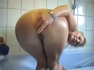 Amateur Bathroom Blonde Masturbating Mature Toy