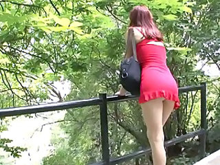 Outdoor Skirt Teen Upskirt