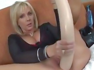 Amazing Blonde Masturbating MILF Toy