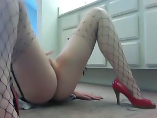 Fishnet Legs Masturbating Orgasm Webcam