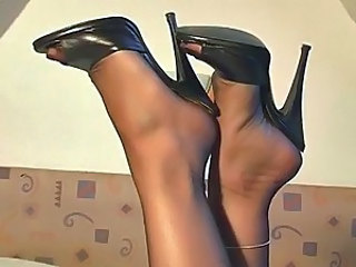 high heels black mules