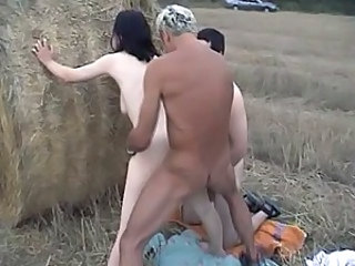 Doggystyle Farm Hardcore Outdoor Threesome
