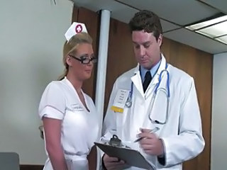 Doctor Fantasy Glasses MILF Nurse Uniform