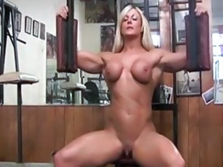 Amazing Blonde Clit MILF Muscled Sport