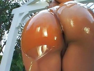 Ass Ebony Oiled Outdoor Pornstar
