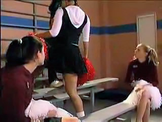 Asian Cheerleader Cute Lesbian Threesome