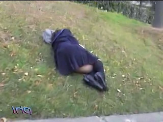 Amateur Outdoor Sleeping Teen