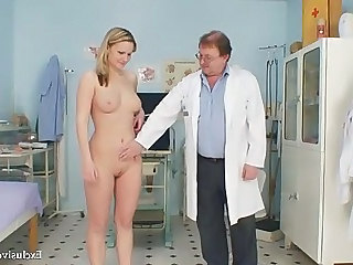 Blonde Cute Doctor Natural Uniform