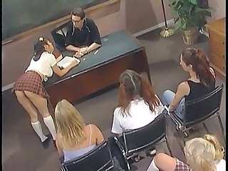 Cute Orgy Pigtail School Skirt Student Young