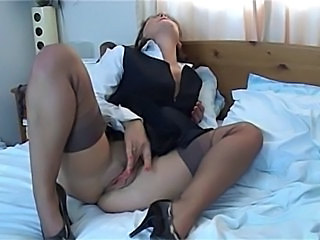 Big Tits Masturbating MILF Stockings