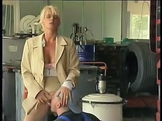 Blonde Clothed German Licking MILF Pornstar