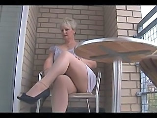 Blonde Chubby Mature Pantyhose