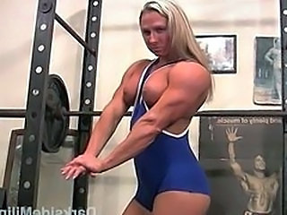 Big Tits Blonde MILF Muscled Sport