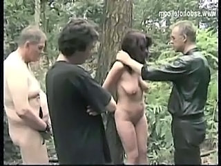 Bondage Gangbang Mature Outdoor SaggyTits