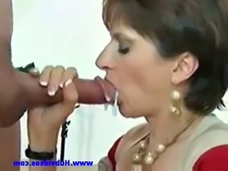 Blowjob Brunette Handjob Mature Swallow