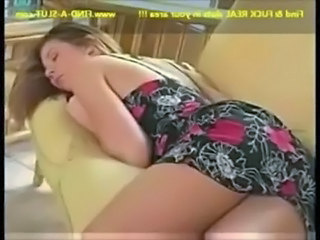 Brunette Cute Sleeping Teen