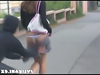 Funny Outdoor Teen Upskirt