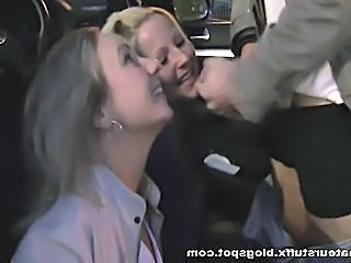 Blowjob Car Clothed Outdoor Public Student Threesome