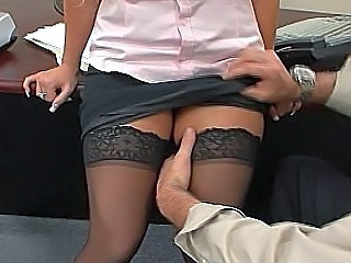 Office Secretary Skirt Stockings