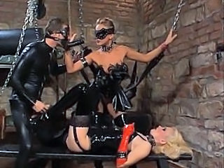 Bdsm Femdom Fetish Latex Slave Threesome