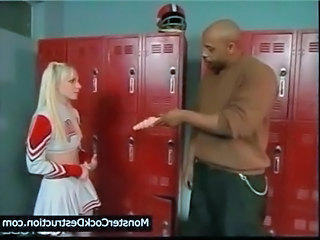 Blonde Cheerleader Interracial School Uniform Young