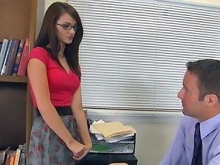 Babe Cute Glasses Student Teacher Teen