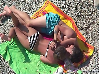 Beach Bikini Kissing Outdoor Teen Voyeur
