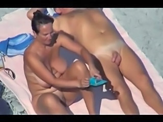 Amateur Beach Big Tits Mature Nudist Older Outdoor SaggyTits