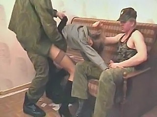 Army Clothed Forced Hardcore Threesome Uniform