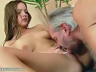 Babe Cute Daddy Daughter Licking Old and Young