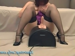 Legs Machine MILF Solo Stockings