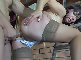 Anal Ass Doggystyle Mature Mom Old and Young Russian Stockings