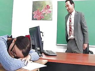 Glasses School Sleeping Student Teacher Teen