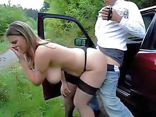 Amateur Amazing Big Tits Bus Car Doggystyle Hardcore MILF Natural Outdoor Stockings