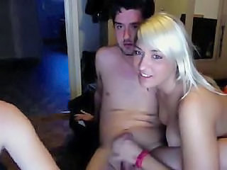 Blonde Girlfriend Handjob Teen Webcam